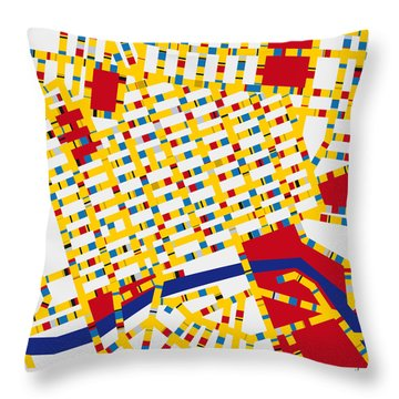 Boogie Woogie Melbourne Throw Pillow by Chungkong Art