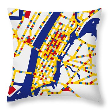 Boogie Woogie New York Throw Pillow by Chungkong Art