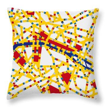 Boogie Woogie Paris Throw Pillow by Chungkong Art