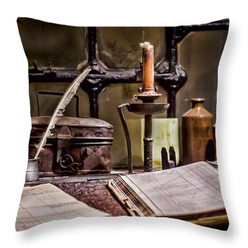 Book Keeper Throw Pillow by Heather Applegate