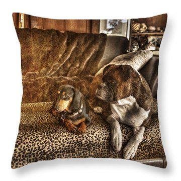Bookends Throw Pillow by William Fields