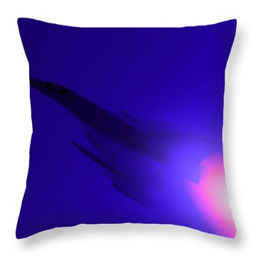 Boosted - Mirage - Blue Throw Pillow by Marcello Cicchini