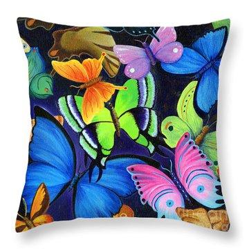 Born Again Throw Pillow by Nancy Cupp