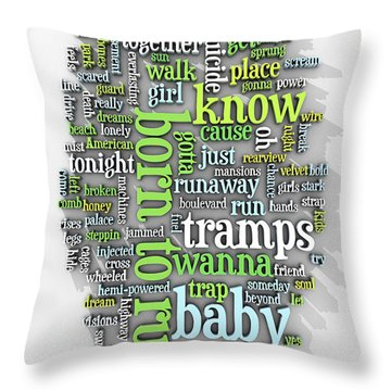 Born To Run Throw Pillow by Scott Norris