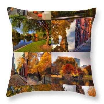 Boston Autumn Days Throw Pillow by Joann Vitali