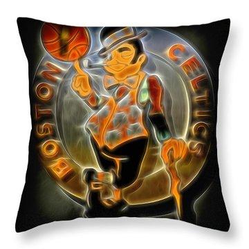 Boston Celtics Logo Throw Pillow by Stephen Stookey