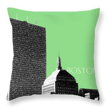 Boston Hancock Tower - Sage Throw Pillow by DB Artist