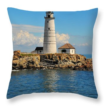 Boston Light Throw Pillow by Catherine Reusch  Daley