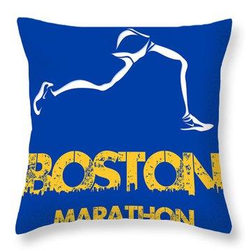 Boston Marathon2 Throw Pillow by Joe Hamilton