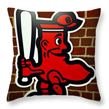 Boston Red Sox 1950s Logo Throw Pillow by Stephen Stookey