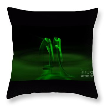 Botanical Life Force Throw Pillow by Peter R Nicholls