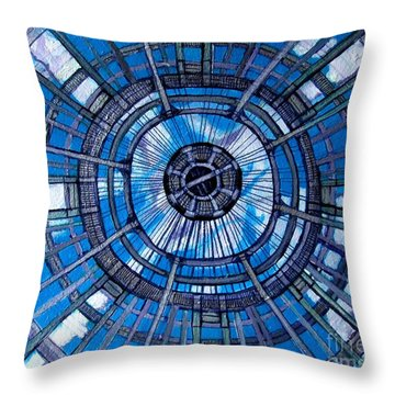 Botanical Looking Up Throw Pillow by Grace Liberator