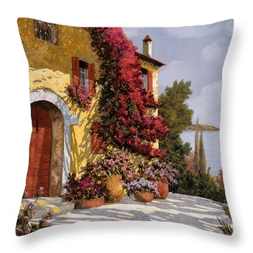 Bouganville Throw Pillow by Guido Borelli