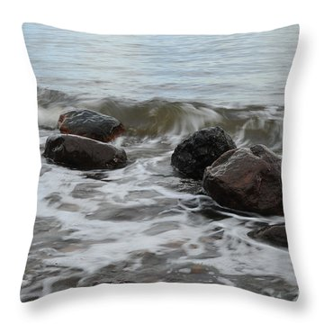 Boulders Throw Pillow by Randi Grace Nilsberg