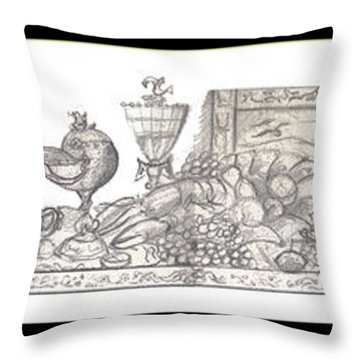 Bounties Of The Sea Throw Pillow by John Keaton