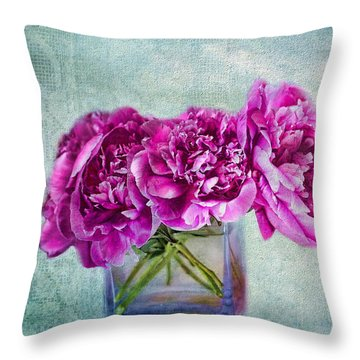 Bouquet Of Beauty Throw Pillow by Andrea Kollo