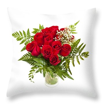 Bouquet Of Red Roses Throw Pillow by Elena Elisseeva