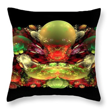 Bowl Of Fruit Throw Pillow by Bruce Nutting