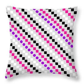 Boxed Stripe Throw Pillow by Louisa Hereford