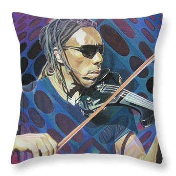 Boyd Tinsley Pop-op Series Throw Pillow by Joshua Morton