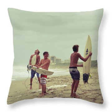 Boys Of Summer Throw Pillow by Laura Fasulo