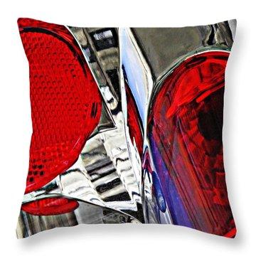 Brake Light 35 Throw Pillow by Sarah Loft