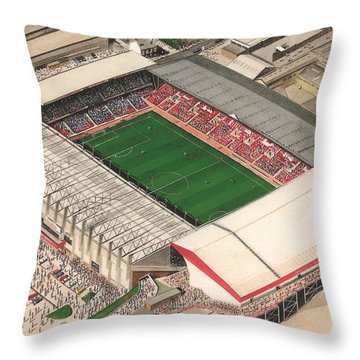 Sheffield Home Throw Pillow : Bramall Lane - Sheffield United Painting by Kevin Fletcher
