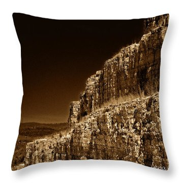 Branson Travels Throw Pillow by Lena Wilhite