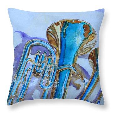 Brass Candy Trio Throw Pillow by Jenny Armitage