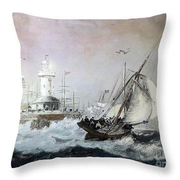 Braving The Storm Throw Pillow by Lianne Schneider