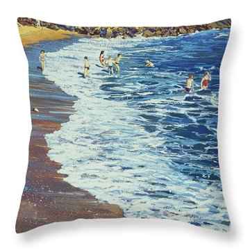 Breakers Throw Pillow by Martin Decent