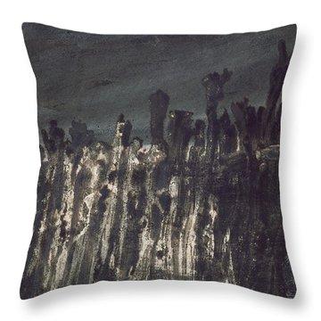Breakwater In Jersey Throw Pillow by Victor Hugo