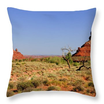 Breathtaking Valley Of The Gods Throw Pillow by Christine Till