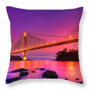 Bridge To Dream Throw Pillow by Midori Chan