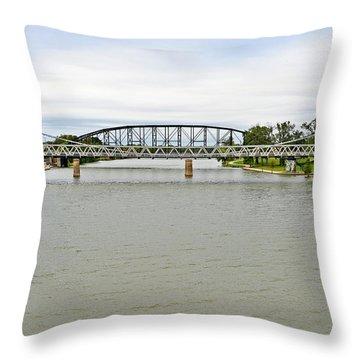 Bridges In Waco Tx Throw Pillow by Christine Till