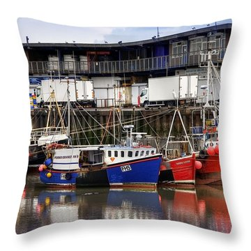 Bridlington Marina Throw Pillow by Svetlana Sewell