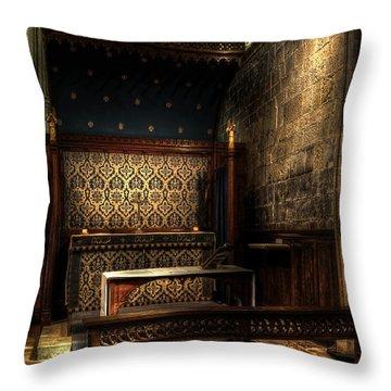 Bridlington Priory Throw Pillow by Svetlana Sewell