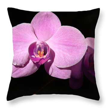 Bright Orchid Throw Pillow by Penny Lisowski