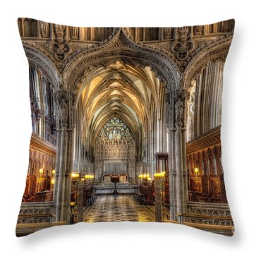 British Church Throw Pillow by Adrian Evans
