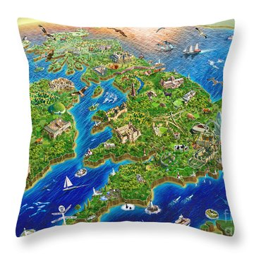 British Isles Throw Pillow by Adrian Chesterman