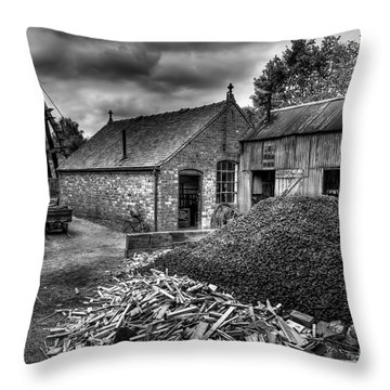 British Mine Throw Pillow by Adrian Evans