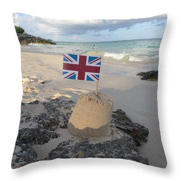 British Sandcastle Throw Pillow by Richard Reeve