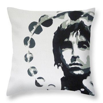 Britpop Throw Pillow by ID Goodall