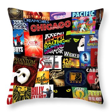 Broadway 3 Throw Pillow by Andrew Fare