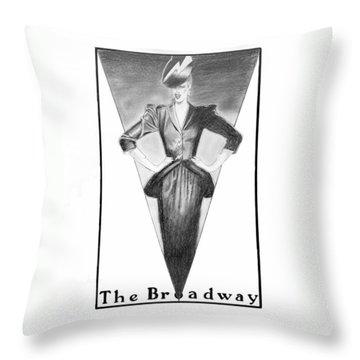 Broadway Dame Throw Pillow by Sarah Parks