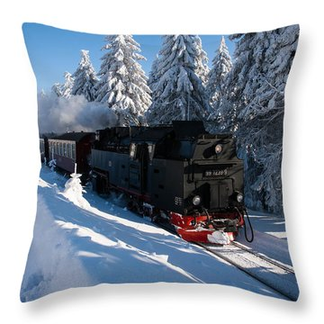 Brockenbahn Throw Pillow by Andreas Levi