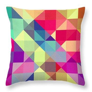 Broken Rainbow II Throw Pillow by VessDSign