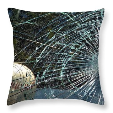 Broken Window Throw Pillow by Robyn King