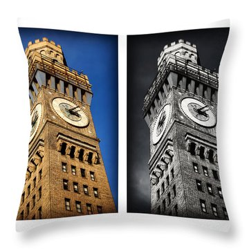 Bromo Seltzer Black And Blue Throw Pillow by Stephen Stookey