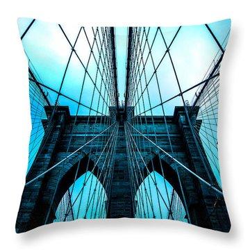 Brooklyn Blues Throw Pillow by Az Jackson